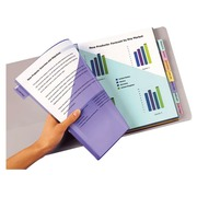 Dividers with double sleeves perforated multicoloured A4 Avery - polypropylene 18/100e - 8 divisio