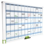 Magnetic year planner 12 columns Nobo
