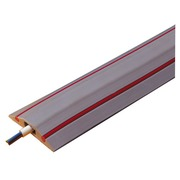 Protective trough for cables, 3 meters red-grey