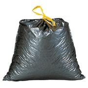 Garbage bags with strap closure grey 100 liters - box of 100