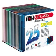 Packet, 25 cases, slim CD, crystal