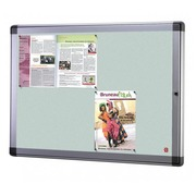 Indoor display case, alu 8 sheets, bottom metallic