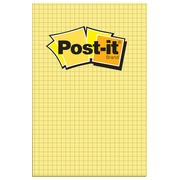 Post-it notepad, 102 x 152 mm, checked, yellow