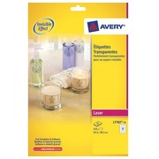 Transparent laser label 63,5 x 38,1 mm Avery L7782-25 - Pack of 525