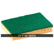 Pack with 20 sponges + 10 for free