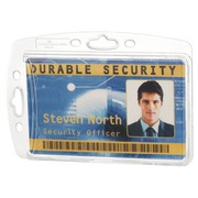 Strong badge Durable without clip 54 x 85 mm for 1 card - Box of 10