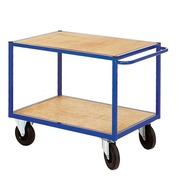 Trolley for workshop 2 wooden trays width 106 cm- capacity 500 kg