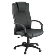 Armchair Partner 2 black leather - classic - suppleness