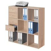 Maxicube Color 9 compartments oak