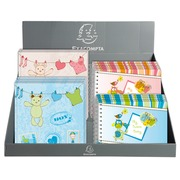 Display with 16 photo albums BABYLOU - Assorted visuals