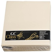 Non-woven table napkins ivory 40 x 40 cm - set of 50