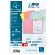 Pack of 100 folders SUPER 60 - 22x31cm - Assorted colours (850100E)