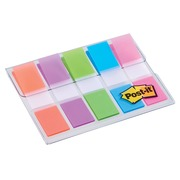 Post-it Index, ft 11,9X43,2 mm, blister met 5 kleuren, 20 tabs per kleur