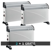 Pack standard convector 3 heating positions 2 +1 for free