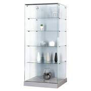 Display cabinet in glass Mastersoft aluminium
