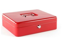 Cash-box 30 cm red