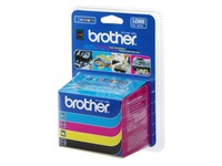 Pack van 4 cartridges Brother LC900 zwart + kleur
