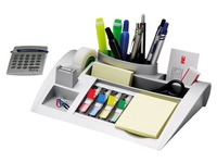 Plastic desk organizer Post-it grey 9 compartments