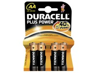 Batterij AA - LR6 Duracell Plus Power - Blister van 4 batterijen