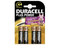 Alcaline battery AA LR6 Duracell Plus Power - Blister of 4