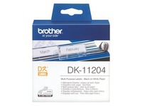 Adresetiketten papier 17 x 54 mm Brother DK11204 wit - rol van 400