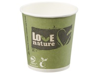 "Composteerbare bekers ""Love Nature"" 10 cl"