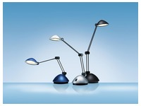 Hansa bureaulamp Space, LED-lamp, blauw