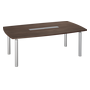 Barrel shaped table Belem wenge for 8 persons