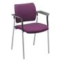 Chair Yota with armrest completely in tissue aluminium legs